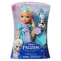 Дисней кукла-малышка Эльза Холодное Сердце со снеговичком Олафом. Оригинал Jakks 31013