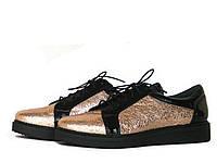 Золотисто-черные туфли