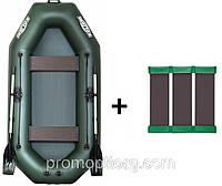 Лодка гребная надувная Kolibri (Колибри) Стандарт (с пайолом слань-коврик) KDB К-280СТ /86-092