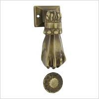"""Дверная ручка гонг для входной двери MANO  модель """"РУКА"""", цвет: бронза"""