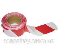 Лента оградительная сигнальная «Стандарт», красно-белая, 100м