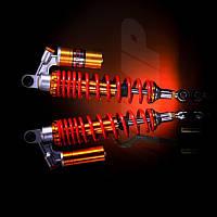 Амортизаторы задние мопеда Дельта 340 мм газо-масляные красные NDT