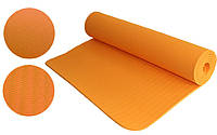Йогамат 6мм оранжевый (каучук)