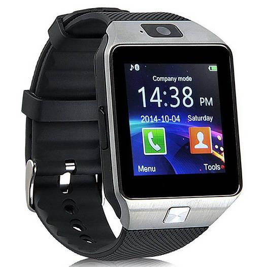 Умные часы DZ09, Smart watch. Стильные смарт часы с SIM и SD картами. Silver