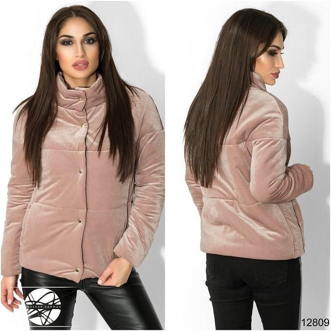 a0331e019465 Женская куртка на кнопках розового цвета. Модель 12809. - Irse в Одессе
