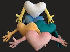 Подушка плюшевая сердце обнимашка для сублимации