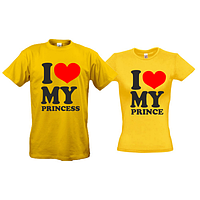 Парные футболки I love me prince - princes