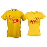 Парные футболки Крылья любви