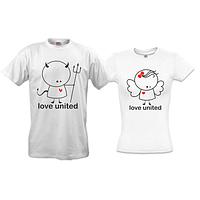 Парные футболки Love united