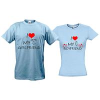 Парные футболки I love my girlfriend - boyfriend (2)
