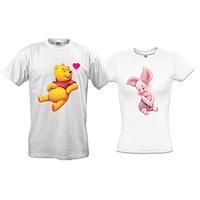 Парные футболки с Винни Пухом и Пятачком