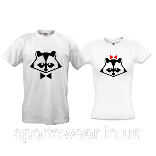 Парные футболки Еноты