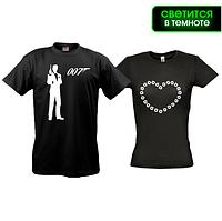 Парные футболки Агент 007 (glow)