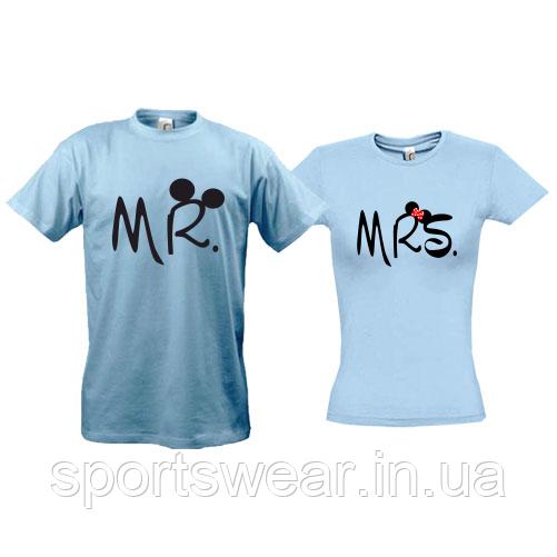 Парные футболки Mr  - Mrs (Mickey style)