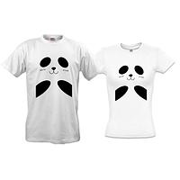 Парные футболки с пандочками