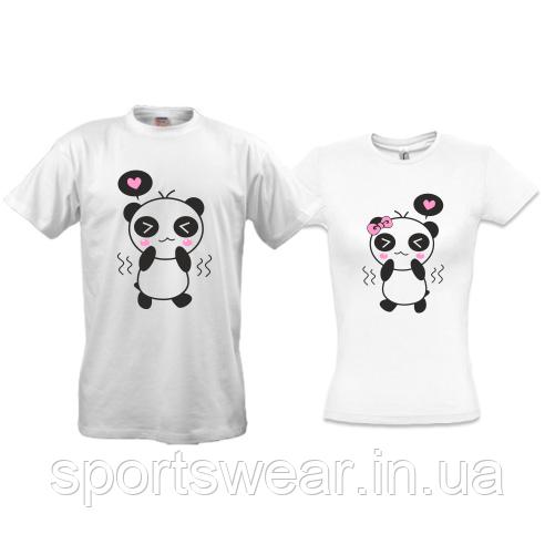 Парные футболки Панда - любовь (2)