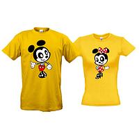 Парные футболки Микки и Минни (арт)