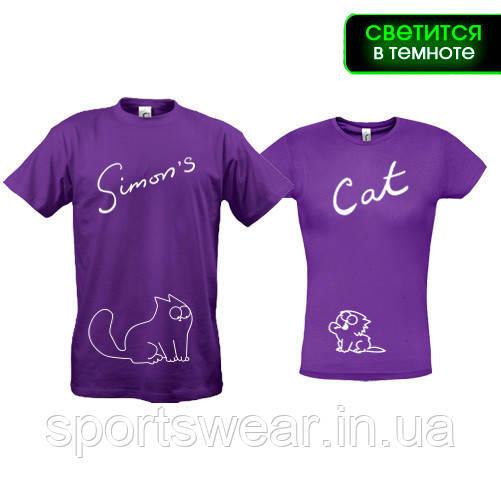 Парные футболки Simons Cat (ж-S м-XL)