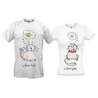 """Парные футболки """"Love fish"""""""
