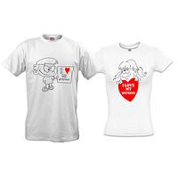 Парные футболки I love my girlfriend - boyfriend