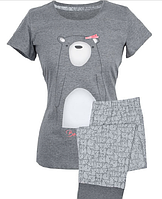 Пижама женская с короткими рукавами Muzzy Медведиха
