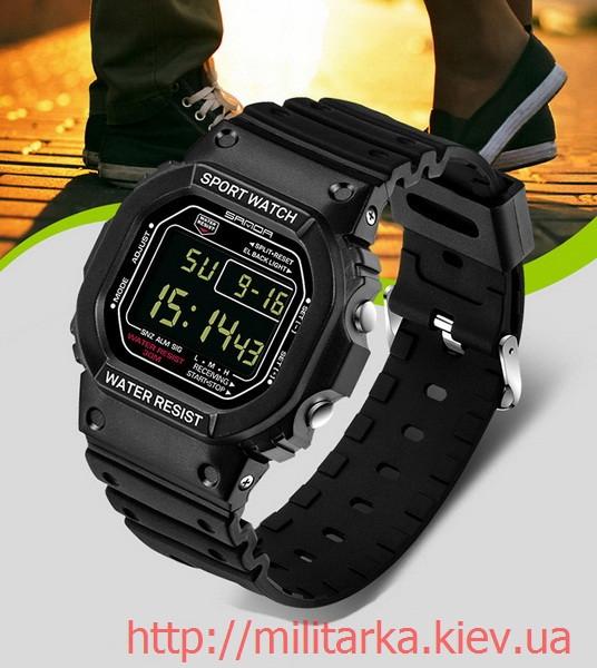 Годинник спортивні Sanda Challenge WR 30 m чорні