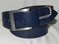 Ремень мужской кожаный классический синий 45 мм 930523