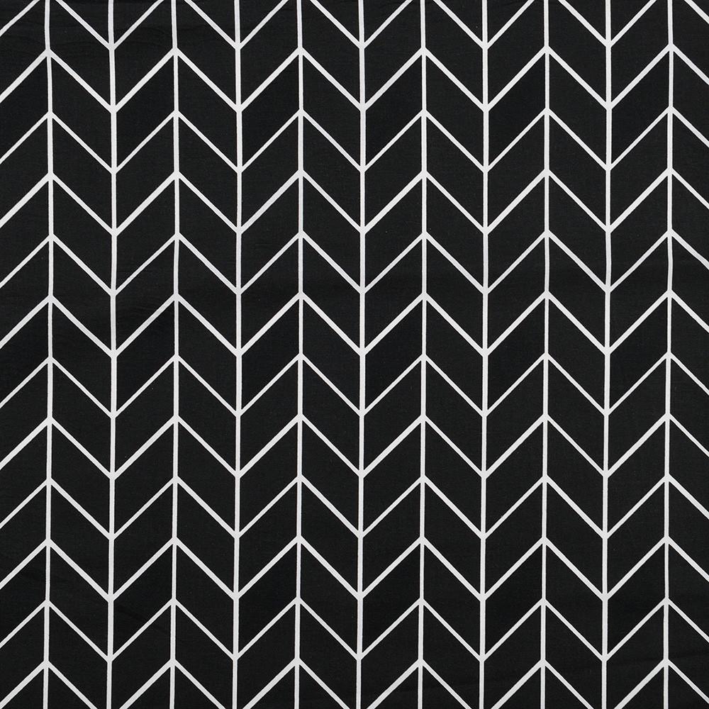 Бавовняна тканина Кіски чорно-білі
