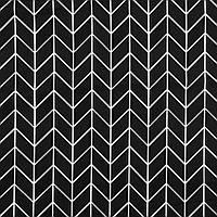 Хлопковая ткань Косички черно-белые