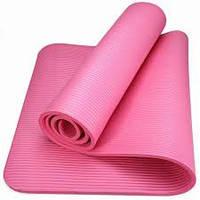 Йогамат каучуковый (NBR)  розовый 10мм , фото 1