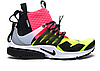 Мужские кроссовки  Nike Air Presto Mid Acronym White Black Hot Lava Volt Lab