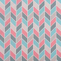 Хлопковая ткань Косички розовый, серый, мятный, фото 1