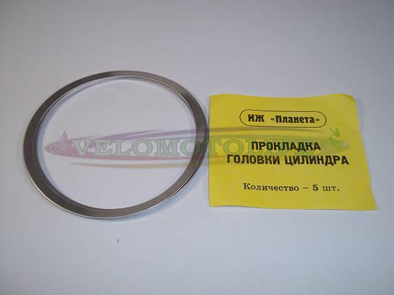 Прокладка головки цилиндра ИЖ-ПЛАНЕТА(алюминий), фото 2