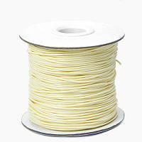 Шнур Вощеный Полиэстер, подходит для плетения браслетов, Цвет: Античный Белый, Размер: Толщина 1мм, (УТ100005724)