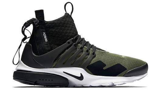 Мужские кроссовки   Nike Air Presto Mid Acronym Olive