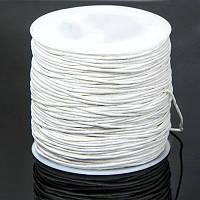 Шнур Вощеный Хлопковый, Цвет: Белый, Размер: Толщина 1мм, около 84м/катушка, (УТ100005747)
