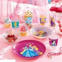 Набор детской посуды дисней Luminarc Princes Royal. Детская посуда Люминарк