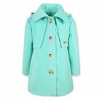Детское демисезонное пальто из кашемира в комплекте с беретом р.98-116 для девочек