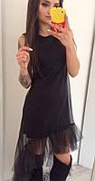 Оригинальное платье с сеткой