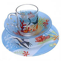 Набор посуды 3 предмета Luminarc Disney Nemo. Набор детской посуды Люминарк