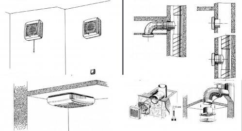 Примеры монтажа Blauberg Aero Vintage
