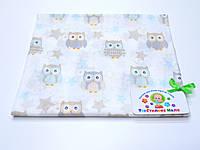 Ситцевая  пеленка (белая с совами)