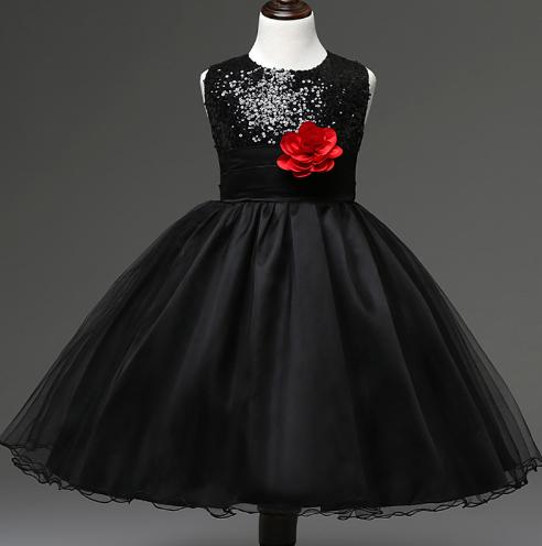 Дитяче чорне паеточное сукня + під'юпник.