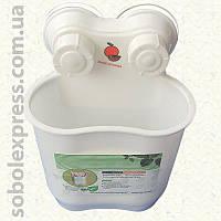Подставка для зубных щеток пластиковая на присосках