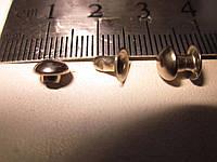 Хольнитен (заклёпка) полусфера односторонний 6 х 6 х 6 мм никель