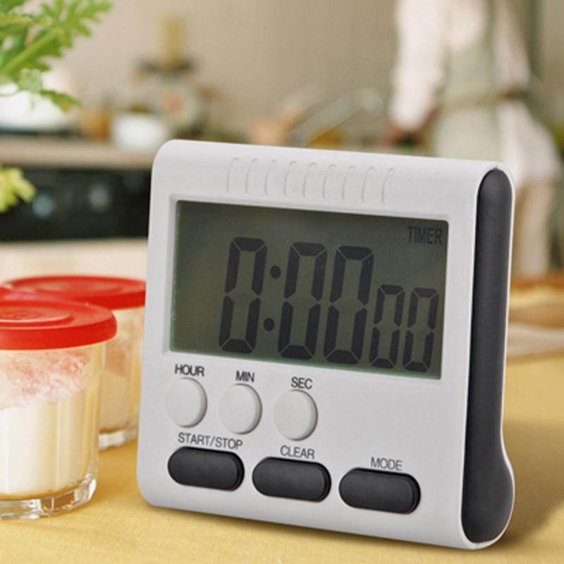 Таймер кухонный цифровой 24 часа, функция часов, звуковая индикация.
