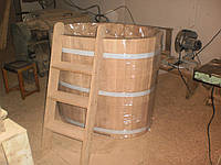 Купель дубовая овальной формы