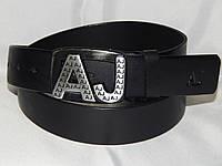 Ремень мужской кожаный Giorgio Armani 40 мм, реплика 930511