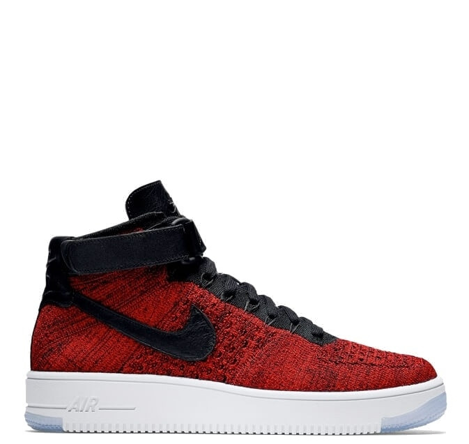 "Мужские кроссовки  Nike Air Force 1 Ultra Flyknit Mid ""University Red"""