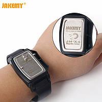 Профессиональный магнитный браслет держатель для мелких деталей (винтов, шурупов, саморезов) Jakemy JM-X4.